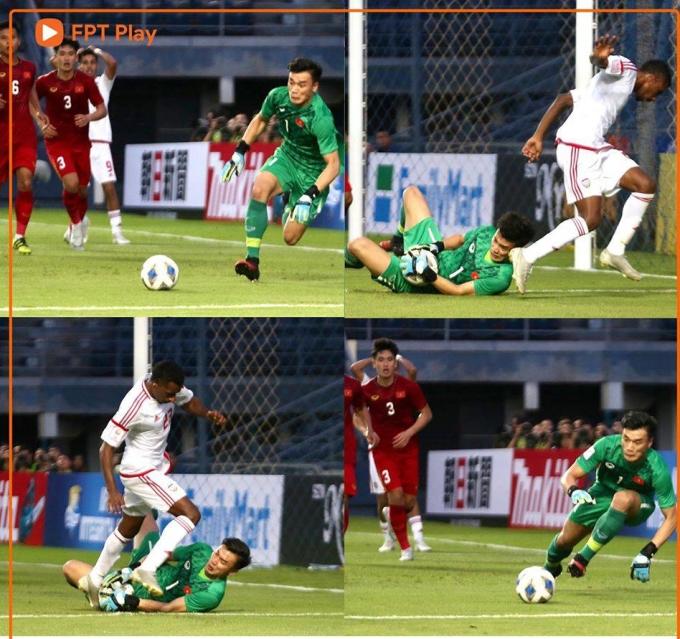 <p> 17h15 ngày 10/1, Việt Nam gặp UAE ở trận mở màn bảng D, tại giải U23 châu Á 2020. U23 Việt Nam chơi với đội hình thấp, chủ động áp sát đối thủ trong những phút đầu trận nhưng không thể tạo ra sự cách biệt. Trận đấu ghi dấu ấn với sự thể hiện nỗ lực của thủ thành Bùi Tiến Dũng.</p>