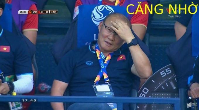 <p> Trận đấu U23 Việt Nam - UAE căng như dây đàn.</p>