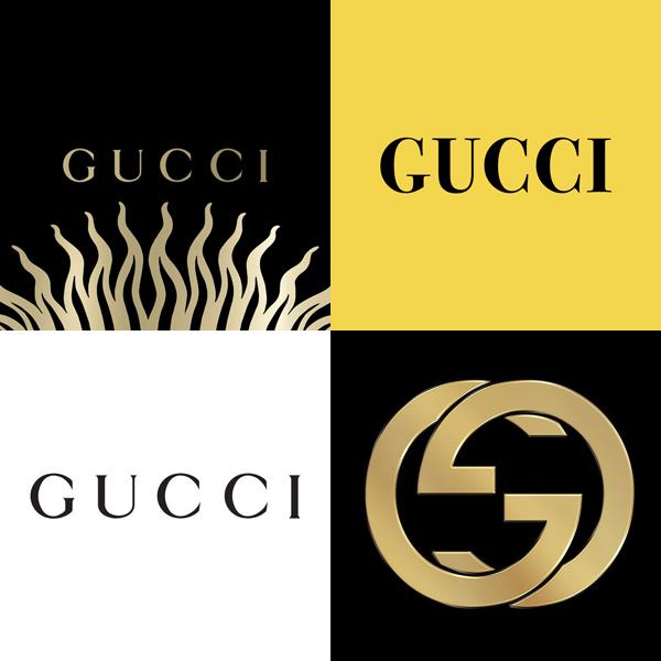 Những logo trước đây của Gucci.
