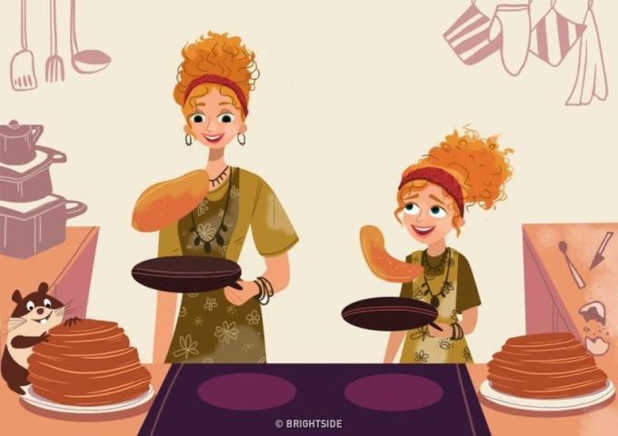 <p> Mẹ và con sẽ cùng nhau nấu ăn, chế biến những món yêu thích - công việc mà trước khi có con mẹ vẫn làm, nhưng có lẽ, chúng sẽ vui và hấp dẫn hơn khi làm cùng con.</p>