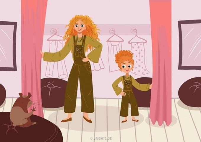 <p> Lựa chọn những bộ quần áo giống hệt nhau, có khi nào mọi người nghĩ: mẹ con mình là chị em?</p>