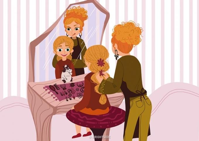 <p> Và, mẹ sẽ biến con trở thành một nàng công chúa. Không có vương quốc riêng như trong truyện cổ tích nhưng trong thế giới của mẹ, con là nàng công chúa tuyệt vời nhất.</p>