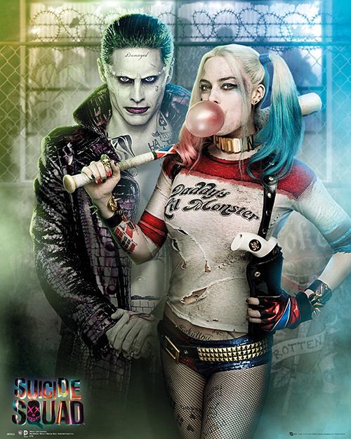 Cặp điên Joker và Harley Quinn đẹp đôi trên phim.