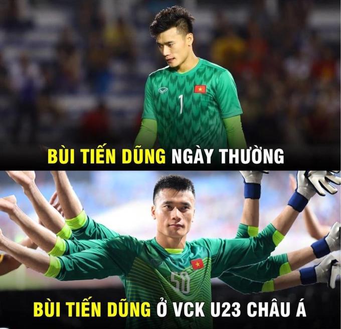 <p> Ngày 13/1, thầy trò Park Hang-seo gặp Jordan tại lượt trận thứ hai bảng D, giải U23 châu Á 2020. Việt Nam hoàn toàn làm chủ được trận đấu ở hiệp một, cầm bóng nhiều hơn song học trò ông HLV Abu Ismael cũng chơi chặt chẽ, tỏ ra lợi hại trong các tình huống đánh biên. Trước một đối thủ khỏe, lối chơi rắn, học trò ông Park chơi đầy nỗ lực nhưng chỉ có trận hòa 0-0.</p> <p> Trận thứ hai tại U23 châu Á 2020 tiếp tục ghi dấu ấn bởi những pha bắt chuẩn xác của Bùi Tiến Dũng.</p>