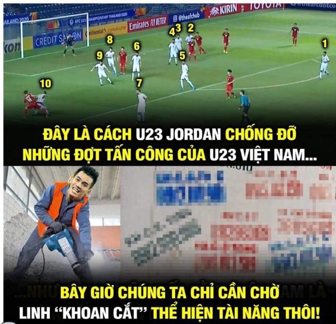 <p> Việt Nam liên tục tấn công áp sát, trong khi Jordan chơi thận trọng lùi về phòng thủ.</p>