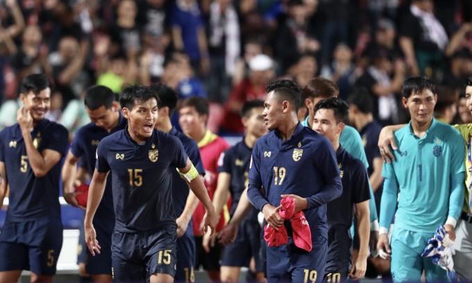 <p> Đây là lần đầu Thái Lan vượt qua vòng bảng kể từ hai lần tham dự vòng chung kết U23 châu Á trước đó.</p>