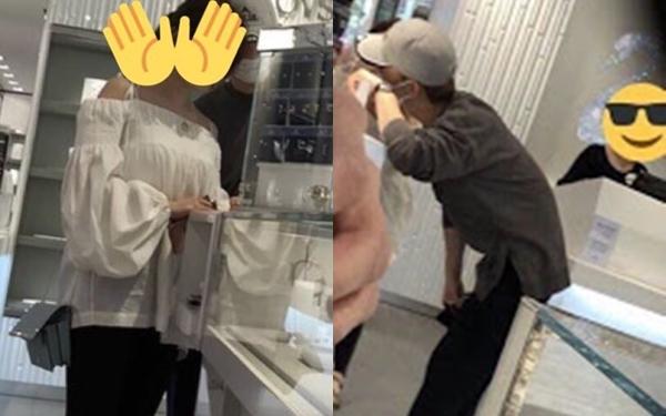 Chen và bạn gái đi mua trang sức hồi tháng 5/2018.