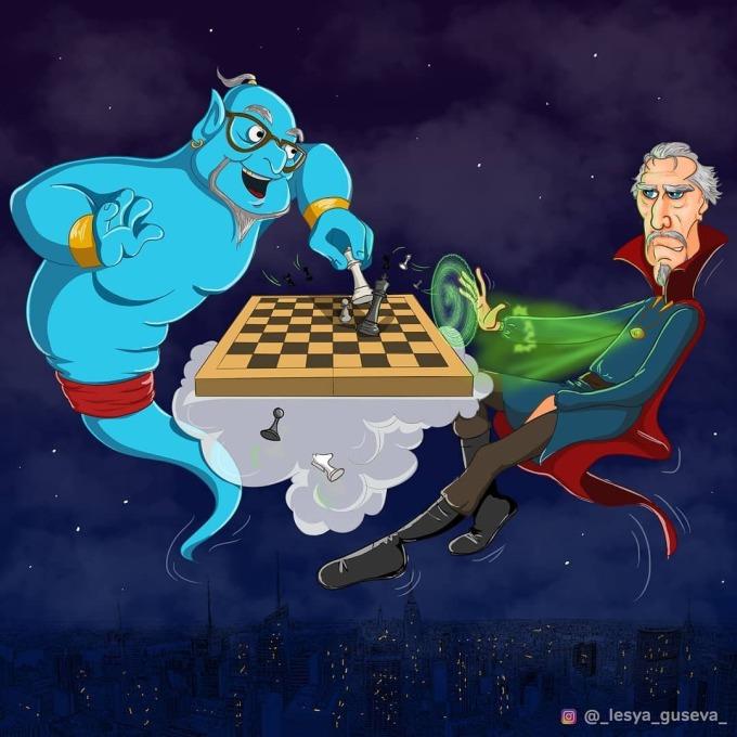 <p> Doctor Strange không thích chơi cờ trên mặt đất như người bình thường.</p>