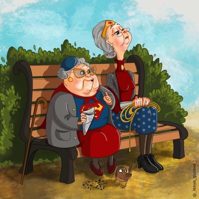 <p> Hai nữ siêu anh hùng đang nói về chuyện bảo vệ hòa bình thế giới hay chuyện nhà cửa?</p>