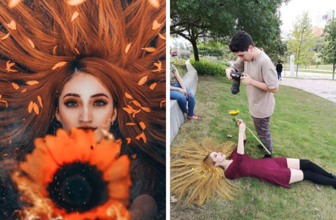 <p> Sức sáng tạo của thợ chụp ảnh cùng trình photoshop (chỉnh sửa ảnh) màu ảnh khiến bạn lung linh hơn bao giờ hết.</p>