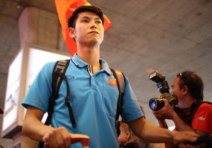 <p> Tiền vệ Nguyễn Trọng Hùng. Anh là cầu thủ được HLV Park xếp đá chính ở trận thua 1-2 trước Triều Tiên.</p>