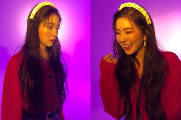Irene lạnh lùng khi chụp hình và cười tít mắt trong hậu trường.
