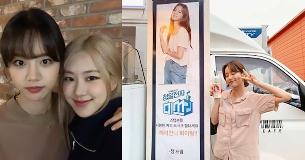 Rosé cũng gửi tặng xe cà phê đến đoàn phim Miss Lee, do Hye Ri đóng chính.
