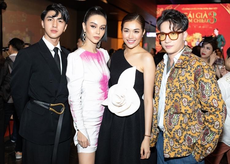 Hội thành viên của Cuộc đua kỳ thú 2019) gồm Bình An, MLee, Lệ Hằng, ST Sơn Thạch (từ trái qua).