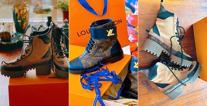 Bà mẹ một con mua một lúc 3 đôi boots mới đều theo phong cách hầm hố, giá mỗi đôi khoảng hơn 30 triệu đồng.