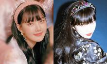 Idol Hàn khoe khí chất tiểu thư với bờm nhung lấp lánh