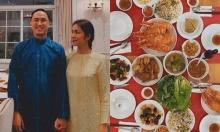 Mâm cơm tất niên của sao Việt