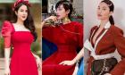 Sao Việt xúng xính đồ đỏ rực đi chơi năm mới
