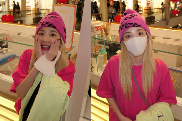 Dara đi du lịch thời dịch bệnh: bỏ khẩu trang ra chụp cái ảnh rồi lại đeo vào.