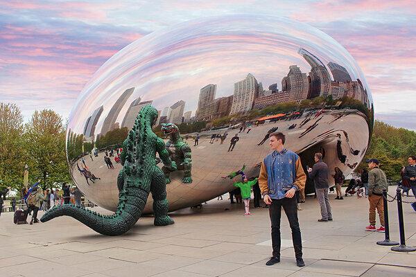 Chỉnh sửa ảnh điêu luyện khiến Godzilla trở nên to lớn và đáng sợ gấp nhiều lần.