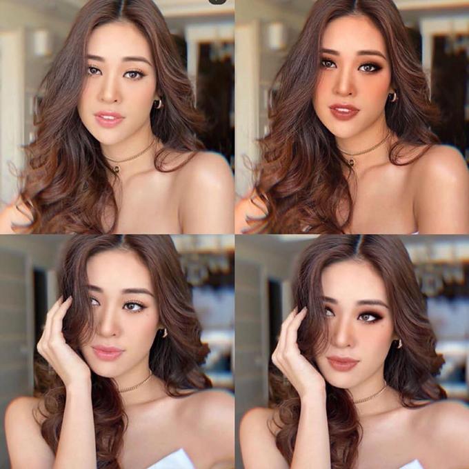 Một số người hâm mộ trổ tài trang điểm bằng... photoshop cho Khánh Vân để chứng minh cô nàng trông sẽ ấn tượng hơn hẳn nếu áp dụng lối makeup kiểu Tây.
