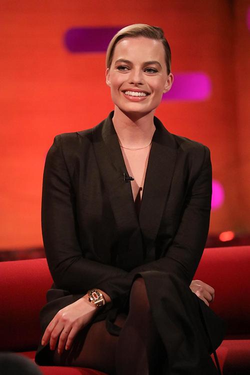 Margot Robbie ghi hình show truyền hình của Anh.