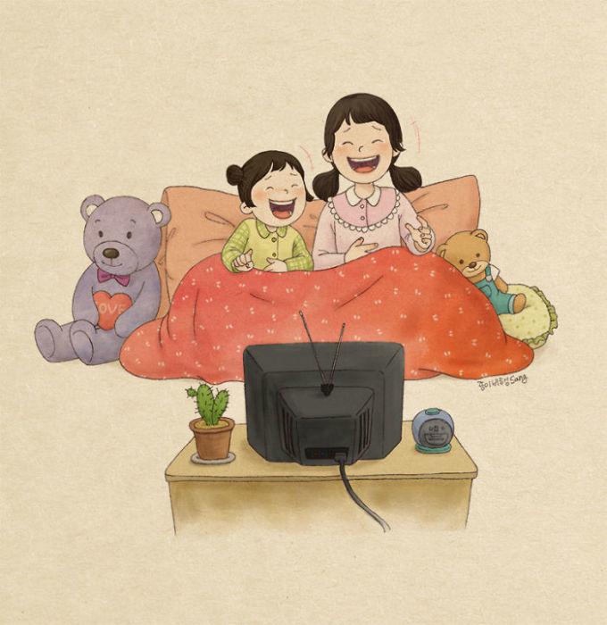 <p> Có chị như có một người bạn ở chung nhà mọi lúc buồn vui.</p>