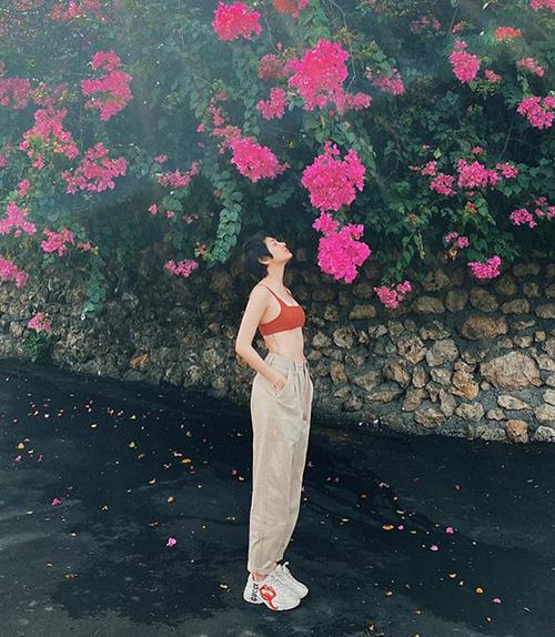 Bảo Anh tận hưởng những ngày thảnh thơi ở Bali.