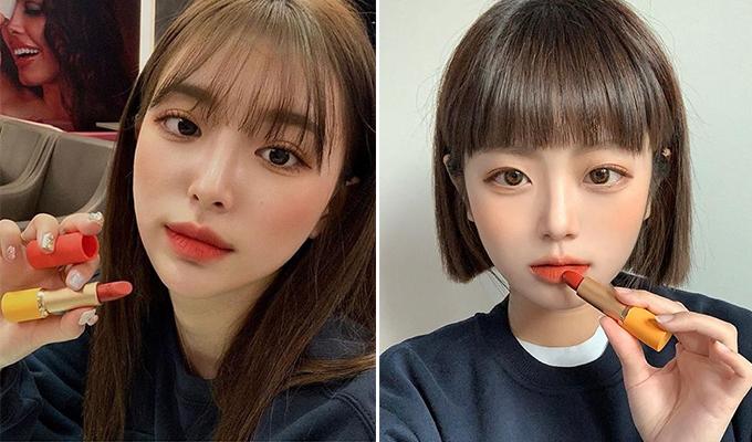 Hàng loạt hot girl Hàn đua nhau khoe sắm cây son Red Meets Yellow, với mức giá chưa đến 400k nhưng trông sang chảnh chẳng khác gì hàng cao cấp.