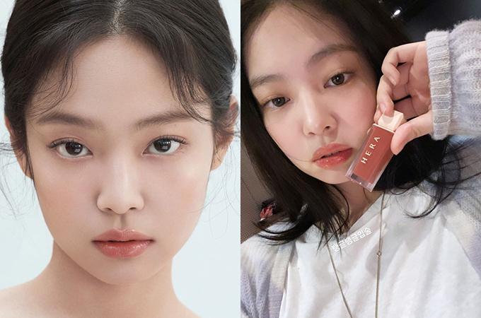Jennie là gương mặt đại diện lâu năm của thương hiệu mỹ phẩm Hàn Quốc Hera. Mới đây, nữ idol tiếp tục giúp dòng son mới của hãng này bán cháy hàng liên tục. Sản phẩm, hai dòng son Hera Sensual Spicy Nude Gloss và Hera Sensual Spicy Nude Balm