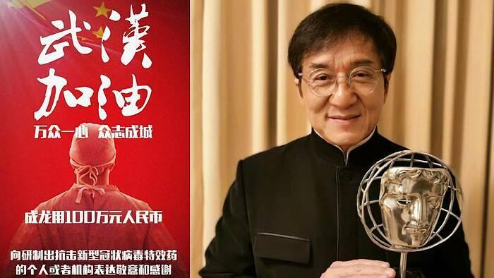 Thành Long lên tiếng cổ vũ tinh thần người Trung Quốc vượt qua đại dịch.