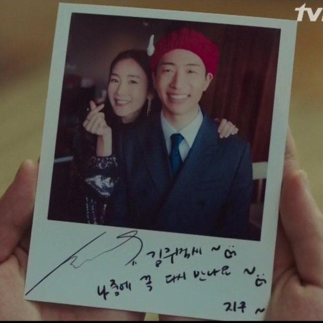Bức ảnh lưu niệm kèm dòng kí tặng của Choi Ji Woo.