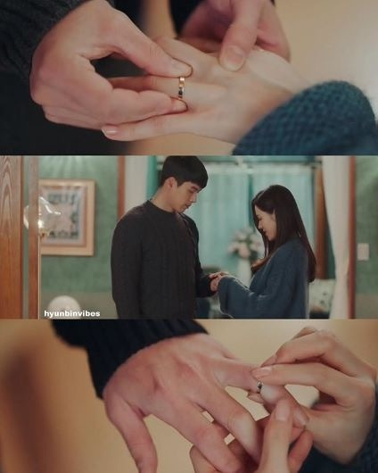 Toàn cảnh trao nhẫn cỏ tặng sinh nhật của Jung Hyuk và Se Ri.