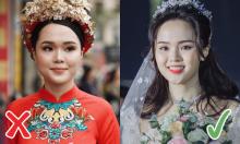 Chọn đúng màu son, Quỳnh Anh xinh lung linh trong đám cưới
