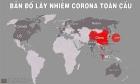 Bản đồ dịch nCoV 17/2: Số người nhiễm tăng thêm hơn 2.100