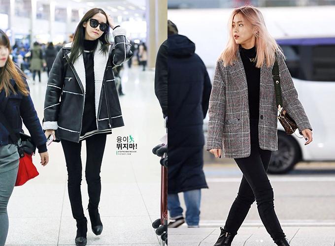 Ngoài Rosé, nhiều idol Hàn khác như Yoona, Ryu Jin cũng bị tố cáo chân cong vì mê kiểu quần đã lỗi mốt từ lâu.