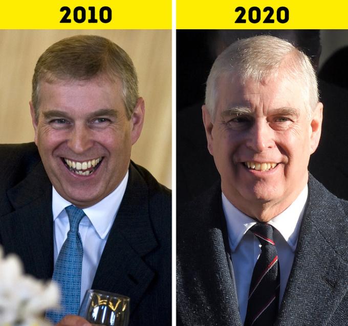 """<p> <strong>10.Hoàng tử Andrew</strong></p> <p> Cho đến năm 2011, Hoàng tử Andrew giữ vai trò Đại diện Đặc biệt của cơ quan Đầu tư và Thương mại Quốc tế của Anh. Năm 2015, ông trở thành Chủ tịch Quỹ giải thưởng quốc tế của Công tước xứEdinburgh.</p> <p> Năm 2019, Andrew chính thức từ chức khỏi nhiệm vụ hoàng gia vì <a href=""""https://ione.net/projects/cu-say-chan-cua-hoang-tu-andrew-trong-thu-bac-ke-vi-hoang-gia-anh-4016664/index.html"""" rel=""""nofollow"""">bê bối liên quan đến ấu dâm</a>.</p>"""
