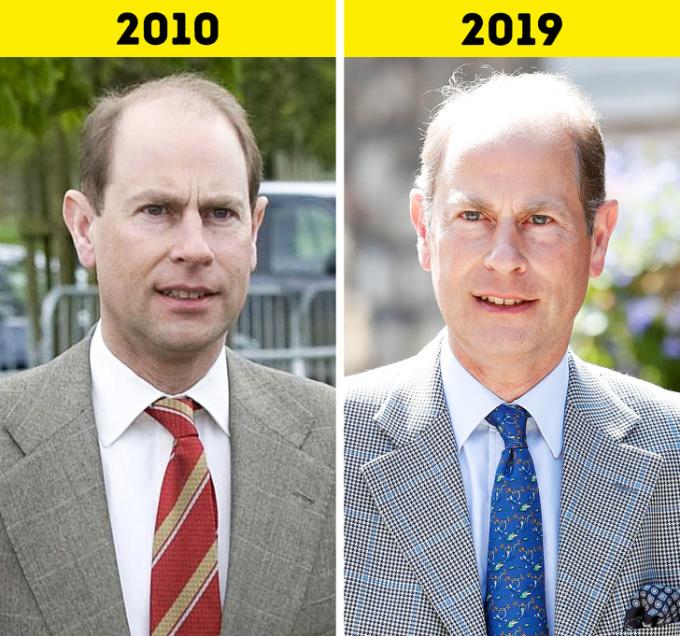 <p> <strong>13.Hoàng tử Edward</strong></p> <p> Là con út của Nữ hoàng và Hoàng thân Philip, Hoàng tử Edward không khao khát sự chú ý của công chúng, mà thích sống cuộc đời bình lặng bên người vợ Sophie. Họ kỷ niệm 20 năm ngày cưới vào tháng 6/2019.</p> <p> Tuy nhiên, Edward cũng có nhiệm vụ hoàng gia của riêng mình. Ngoài các cuộc bàn luận quân sự và chương trình giải thưởng Công tước xứ Edinburgh, ông cũng hỗ trợ khoảng 80 tổ chức, từ Badminton Scotland đến Hiệp hội Paralympic Anh.</p>