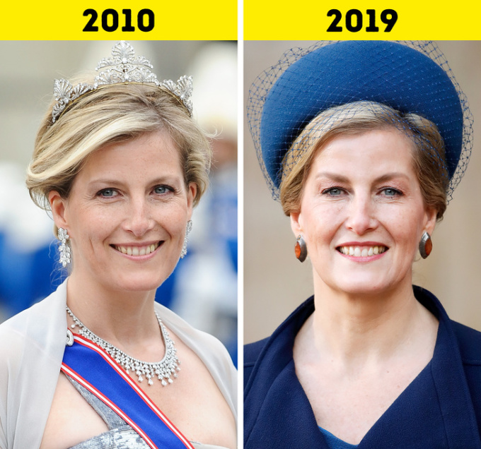 <p> <strong>14.Sophie, Nữ bá tước xứ Wessex</strong></p> <p> Nữ bá tước xứ Wessex kết hôn với Hoàng tử Edward vào năm 1999. Kể từ đó bà bắt đầu thực hiện các nghĩa vụ của hoàng gia. Ngoài ra, Sophie còn tham gia nhiều hoạt động khác nhau từ thời trang đến hỗ trợ người khuyết tật. Hiện bà là người bảo trợ của hơn 70 tổ chức.</p>