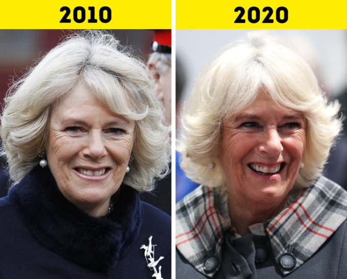 <p> <strong>4.Camilla,Nữ công tước xứ Cornwall</strong></p> <p> Cùng với chồng là Thái tử Charles, Camilla đã tham gia rất nhiều công việc hoàng gia ở Anh và nước ngoài. Bà sẽ bước sang tuổi 73 vào tháng 7 năm nay.</p>