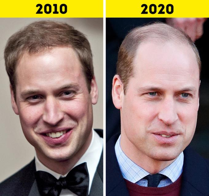 <p> <strong>5.Hoàng tử William</strong></p> <p> Năm 2011, William kết hôn với bạn gái lâu năm Kate Middleton. Sau gần 10 năm, Hoàng tử dần trở thành người cha,người chồng mẫu mực trong mắt công chúng.</p> <p> Về sự nghiệp, sau khi gia nhập đội ngũ Không quân Hoàng gia vào năm 2008, William tham gia một khóa huấn luyện. Năm 2010, Hoàng tử trở thành phi công đủ điều kiện tham gia tìm kiếm và cứu hộ,lái trực thăng Sea King.</p>