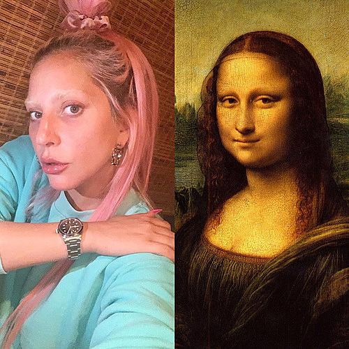 ...và tranh nàng Mona Lisa của danh họa Leonardo da Vinci.