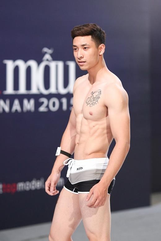 Anh Vũ thời điểm dự thi Vietnams Next Top Model 2015.
