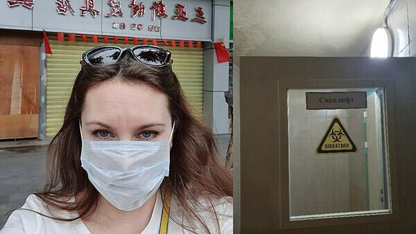 Alla Ilyina khoe ảnh đã mở khóa cửa và trốn thoát khỏi khu vực cách ly lên Instagram.