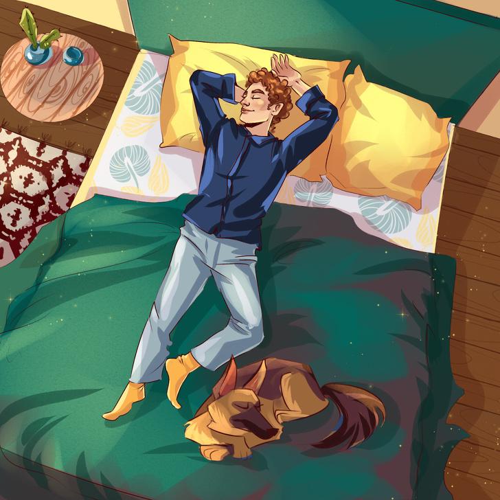 Dáng ngủ của thú cưng bộc lộ cảm xúc