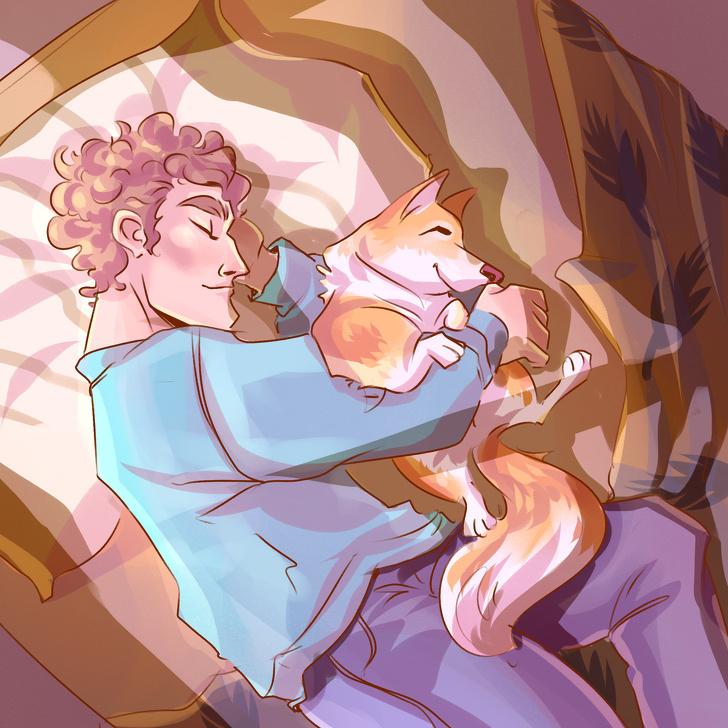 Dáng ngủ của thú cưng bộc lộ cảm xúc - 7