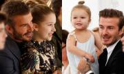 Harper Beckham - cô bé luôn ngồi trong lòng bố khi xem show