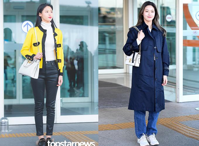 Ở sân bay, nữ idol thường xuất hiện giản dị, kín đáo với những item hàng hiệu theo phong cách thanh lịch.