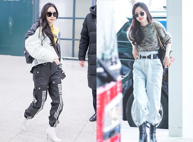 Trái ngược với style sexy trên sân khấu, Na Eun thường lựa chọn những set đồ thể thao khỏe khoắn cho streestyle