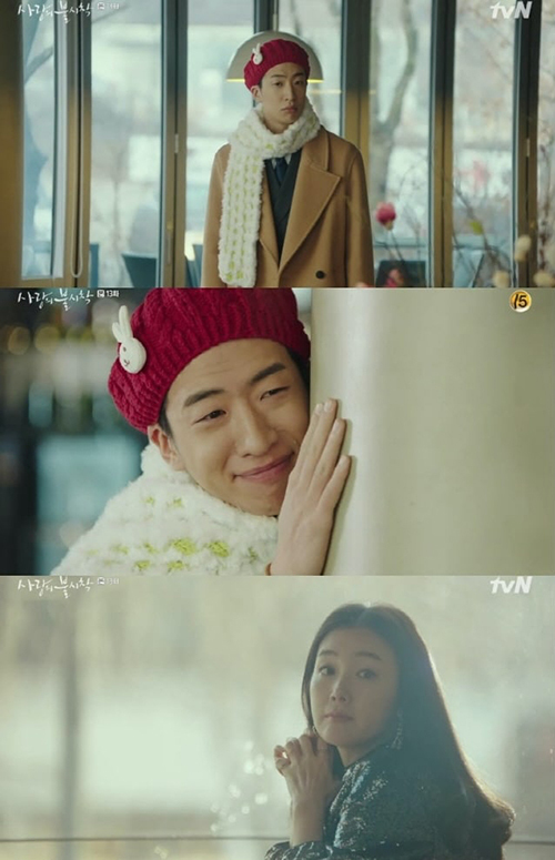 Khoảnh khắc dễ thương khi Joo Muk được gặp idol Choi Ji Woo.